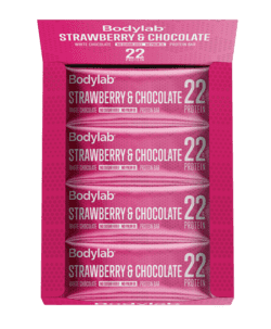 Bodylab Protein Bar Strawberry & White Chocolate (12 x 65 g) BEDST FØR 2804