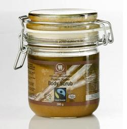 Urtekram brown sugar body scrub, 380ml.