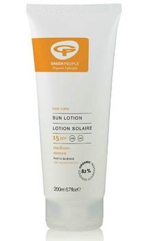 Greenpeople Sun lotion SPF 15, 200ml.