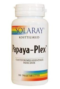 Solaray Papaya Plex Tyggetab, 90tab.