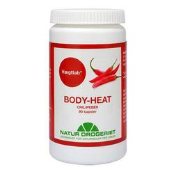 Body Heat kapsler 400 mg Chilipeber 90 kap.