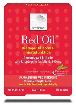 Red Oil omega-3 krill olie, 60kap.