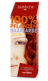 Henna Hårfarve natural red Sante, 100gr.
