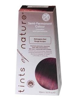 Tints of Nature hårfarve mahogany red semipermanent, 90ml.