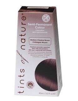 Tints of Nature hårfarve medium chestnut brown semipermanent, 90ml.