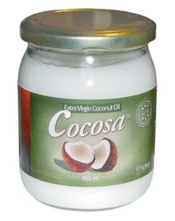 Kokosolie - Cocosa Pure Coconut Oil t. stegning Ø 500ml.
