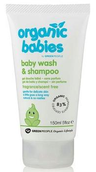 Greenpeople Baby wash & shampoo No Scent u.duft, 150ml.