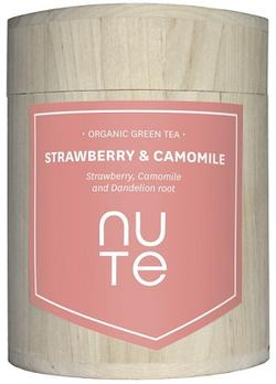 NUTE Strawberry & Camomile - Grøn te Ø, 100g.