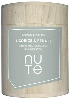 NUTE Licorice & Fennel - sort te Ø, 100g.