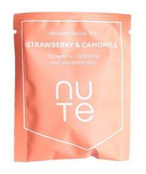 NUTE Green Strawberry&Camomile Teabag 10 stk.