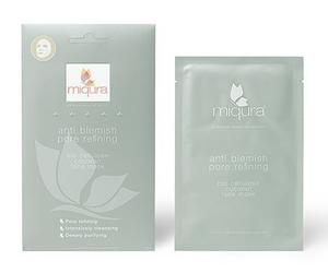 Miqura Anti Blemish Sheet Pore Refining Face Mask Coconut 1 stk.