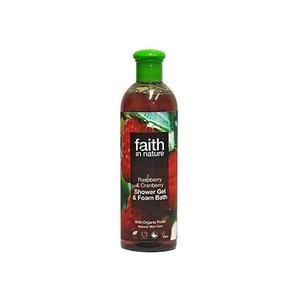 Faith in nature Showergel hindbær & tranebær, 400 ml.
