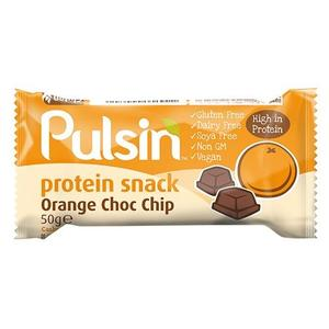 Pulsin Proteinbar Orange Choc Chip, 50 g