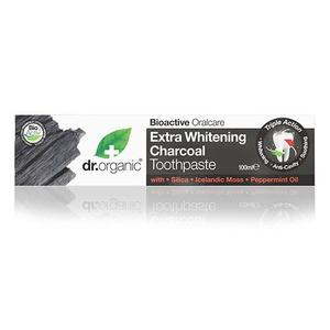 Dr. Organic Tandpasta Extra Whitening Charcoal, 100 ml