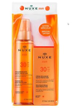 Nuxe Sun SPF 30 FACE 50 ML & BODY TANNING OIL 150 ML
