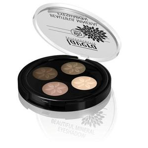 Lavera Beautiful Mineral Quattro Eyeshadow Cappoccino Cream 02 Trend