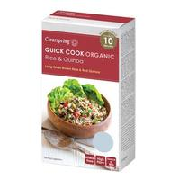 Clearspring Quick Cook lange brune ris & quinoa Ø, 250g.