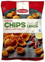 Semper Chips m. chili & lemon glutenfri, 45g.