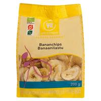 Bananchips sprød snack Ø, 200 g