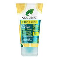 Organic tea tree face wash cleansing deep pore Dr. Organic Skin Clear, 125 ml