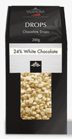 VALRHONA CHOCOLATE DROPS 24%, 200 g.