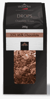 VALRHONA CHOCOLATE DROPS 32%, 200 g.