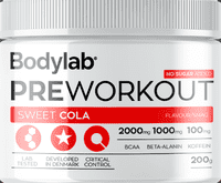 Bodylab Pre Workout Sweet Cola, 200 g.
