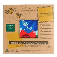 Bee Wrappy Beeswax Food Wraps 3 Pack