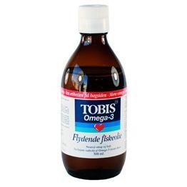 Tobis fiskeolie omega 3, 300ml.