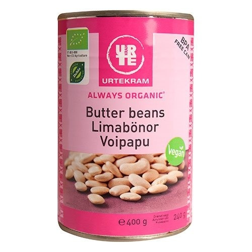 Urtekram Butter beans dåse Ø, 400g.