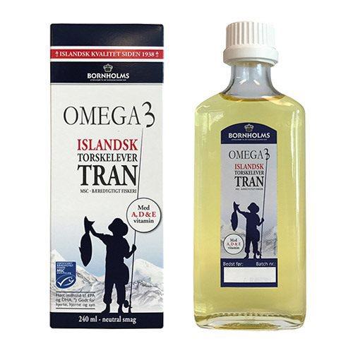 Islandsk tran Omega 3 Bornholms, 240ml