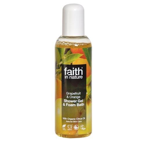 Faith in nature Shower gel grape & orange, 100 ml.