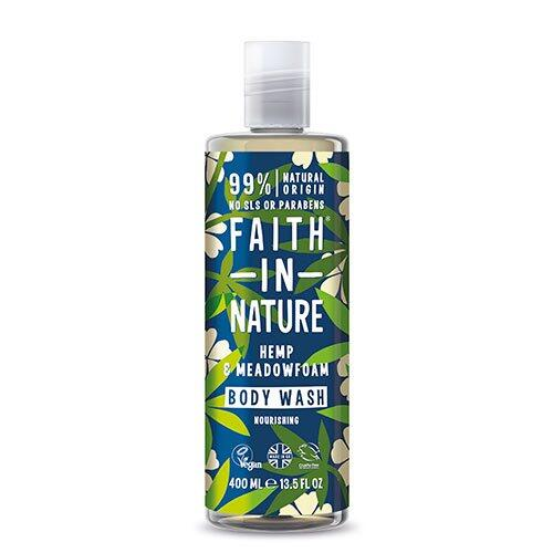 Faith in nature Showergel hamp & engrapgræs, 400 ml.