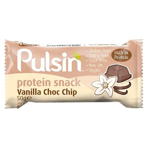 Pulsin Proteinbar Vanilla Choc Chip, 50 g