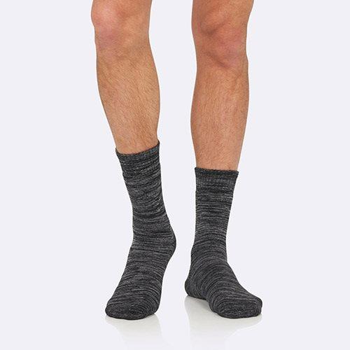 Strømper Herre gråmeleret str. 45-50 Woork Boot, 1stk