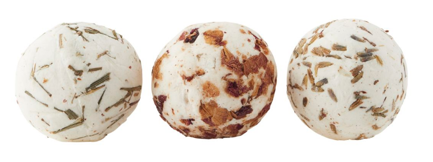 Meraki Sæbe bolde, shea butter, 3 dufte, lavendel/citrongræs/rose, 3x45 g