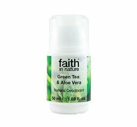 Faith in Nature Roll on Aloe Vera & Grøn te, 50 g.