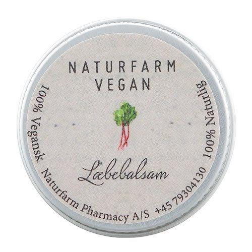 Naturfarm Vegan Læbebalsam Rabarber, 10 ml.