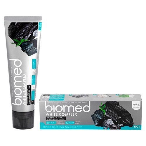 Tandpasta biomed charcoal triple cleaning, 75ml.