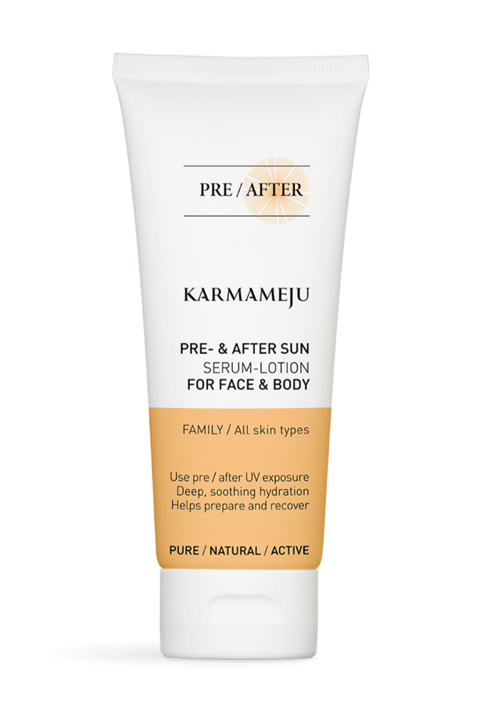 Karmameju AFTERSUN Serum-lotion - Travel Size, 100 ml.