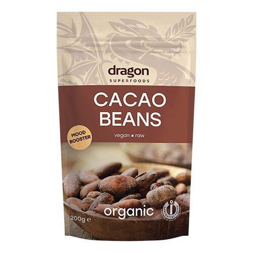 Dragon Superfoods Kakao Bønner Ø - Dragon Superfoods, 200g