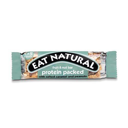Eat Natural Protein packed med saltet karamel og jordnødder, 45g.