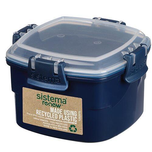 Sistema Renew Snackboks, 400 ml ass. farver mint/blå.