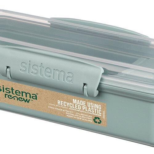 Sistema Renew Snackbøtte Attack, 410 ml ass. farver mint/blå.