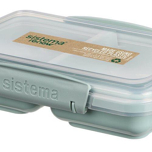 Sistema Renew Snackbøtte Split Small, 350 ml ass. farver mint/blå.