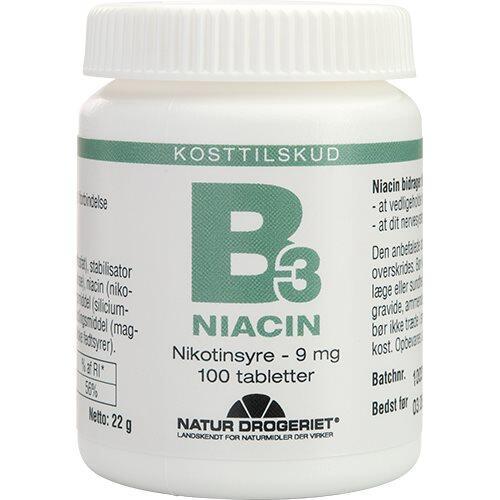 Natur-Drogeriet, B3 Niacin Nikotinsyre 9 mg, 100tab