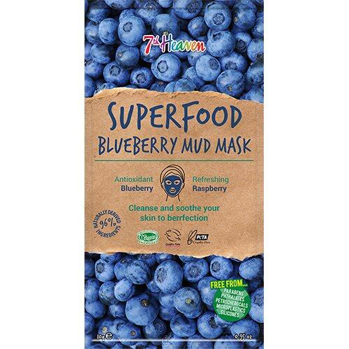 7th Heaven Ansigtmaske Mud Superfood Blueberry, 10g
